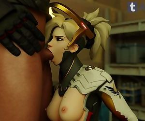 Overwatch Mercy Blowjob