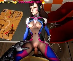 Fuck in cafe. 3d porn..