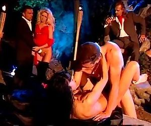 Outdoor night orgy with..