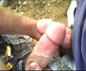 2 Guys Play In The Woods