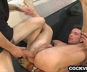 Big uncut cock working..
