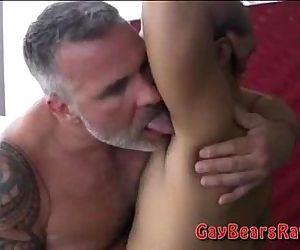 Big hairy bear dicks in..