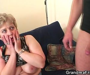 She takes two cocks at..