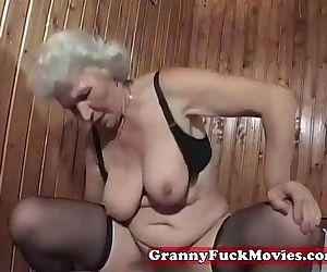 a horny granny..