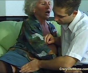 busty crazy old mom..