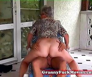 Outdoor fucking grandma..