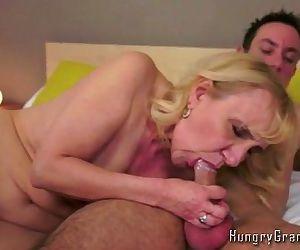Granny Sucks Young Dick..