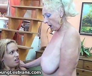 Blonde mature granny..