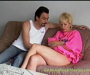Hard pounding granny..