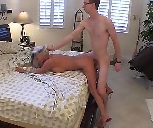 Young guy fills his..
