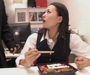 Japanese office Blowjob..
