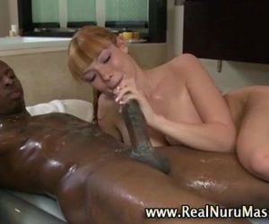 Asian masseuse blowjob..