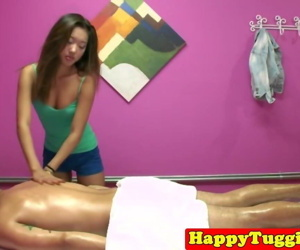 Asian masseuse tugs..