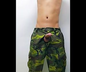 Army jerk off in..