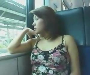 asian fuck in the train