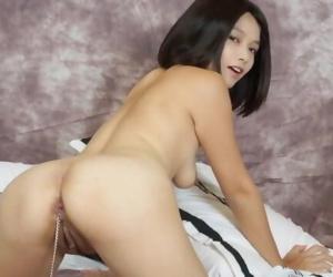Asian Girl Masturbates..