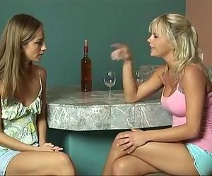 Blonde and Brunette..