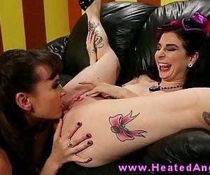Tattooed punk lesbian..