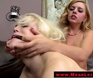 LEZDOM blonde lesbian..