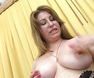 Horny MILF playing with..