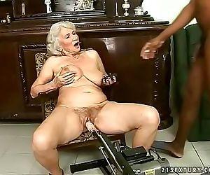 Interracial granny fuck..