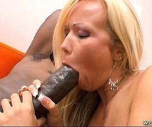 Blonde MILF Loves Big..