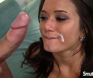 Hot brunette MILF fuck..