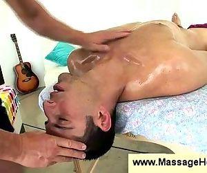 Gay masseur fucks dudes..