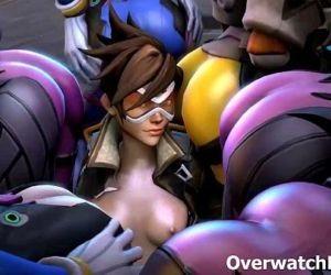 Overwatch XXX Group Sex..