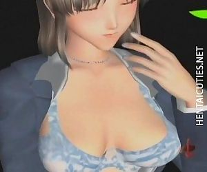 3D anime angel gets..