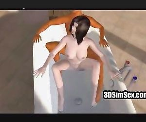3D doggystyle sex