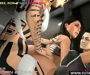 Tattooed futa orgy, 3d..