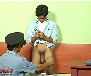 Teen convict drills..