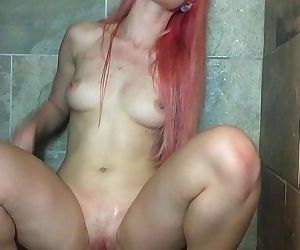 Shower with my big toy,..