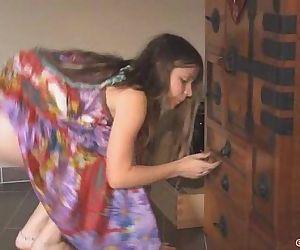 Hippie dress on..