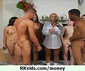 Public nudity for cash..
