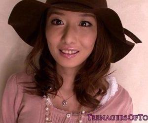 Pretty japanese teen at..