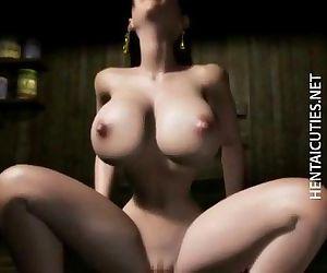 Horny 3D anime babe..