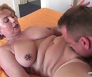 Mature nurse takes..