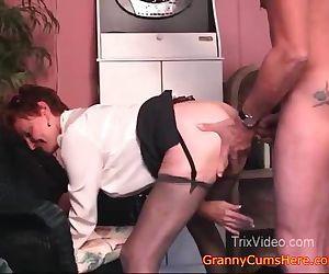 Granny FUCKS her Grand..
