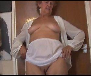Blonde Granny in..