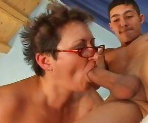 Granny banged by Boys