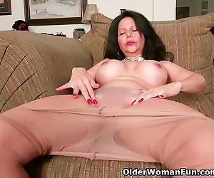 Busty milf April White..
