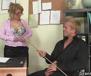 Hot office sex with old..