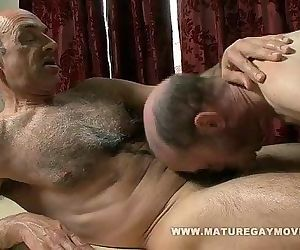 Hairy Mature Gets A..