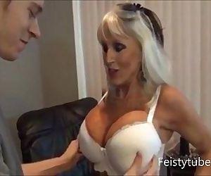 mother milks sons cock..