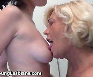 Horny older blonde wife..