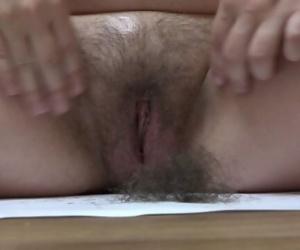 shaving a very hairy..