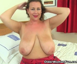 Busty and British milf..