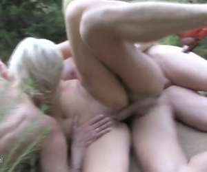 Mature groupsex in the..